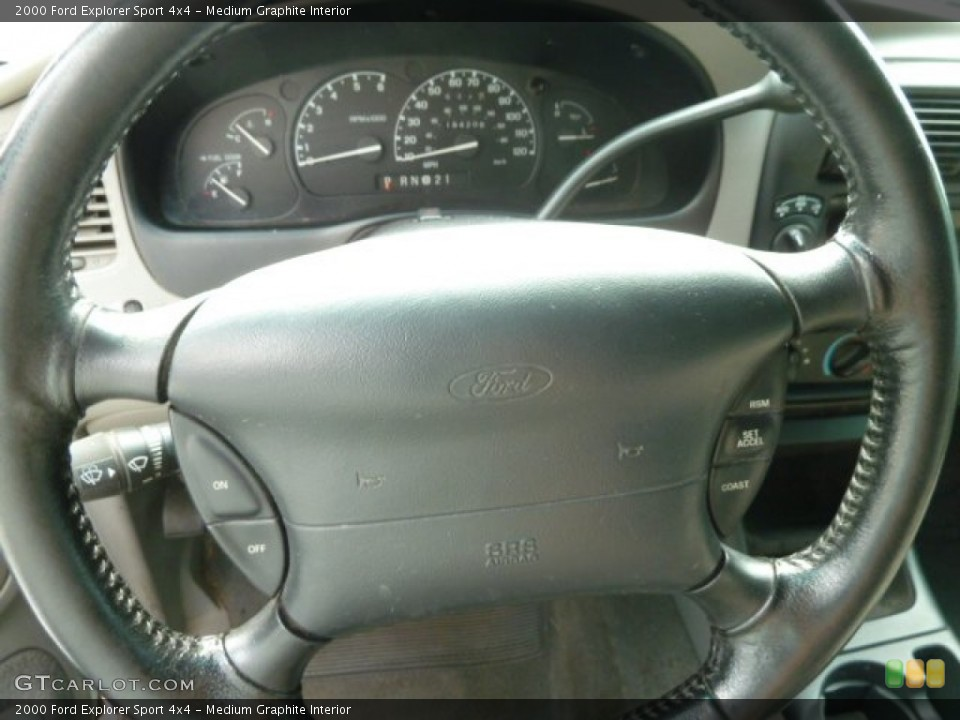 Medium Graphite Interior Steering Wheel for the 2000 Ford Explorer Sport 4x4 #66542349
