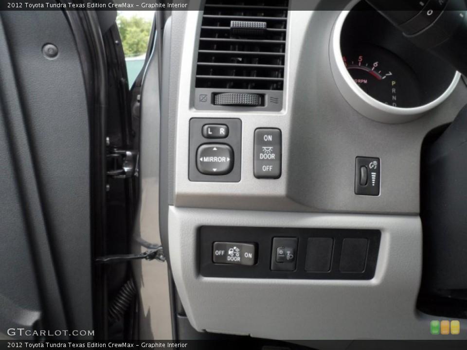 Graphite Interior Controls for the 2012 Toyota Tundra Texas Edition CrewMax #66713451