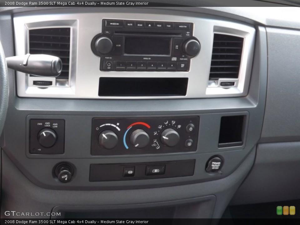 Medium Slate Gray Interior Controls for the 2008 Dodge Ram 3500 SLT Mega Cab 4x4 Dually #66720662