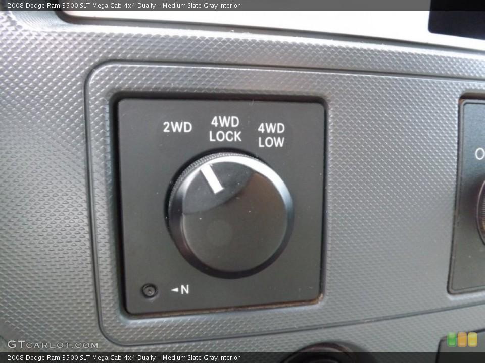 Medium Slate Gray Interior Controls for the 2008 Dodge Ram 3500 SLT Mega Cab 4x4 Dually #66720698