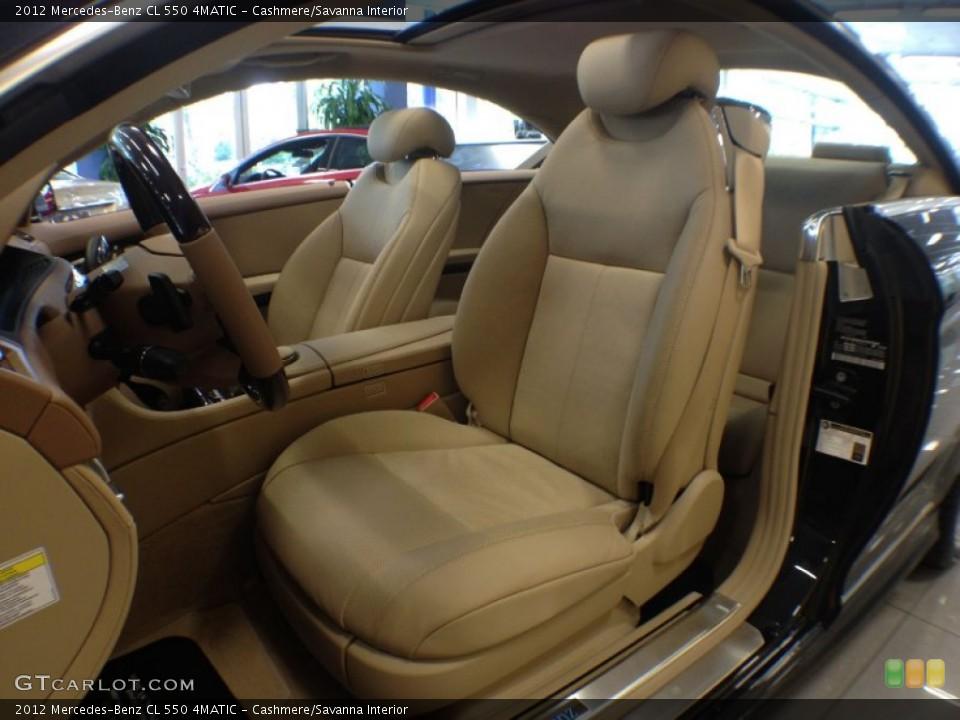 Cashmere/Savanna 2012 Mercedes-Benz CL Interiors