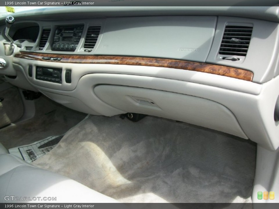 Light Gray Interior Dashboard for the 1996 Lincoln Town Car Signature #66832607