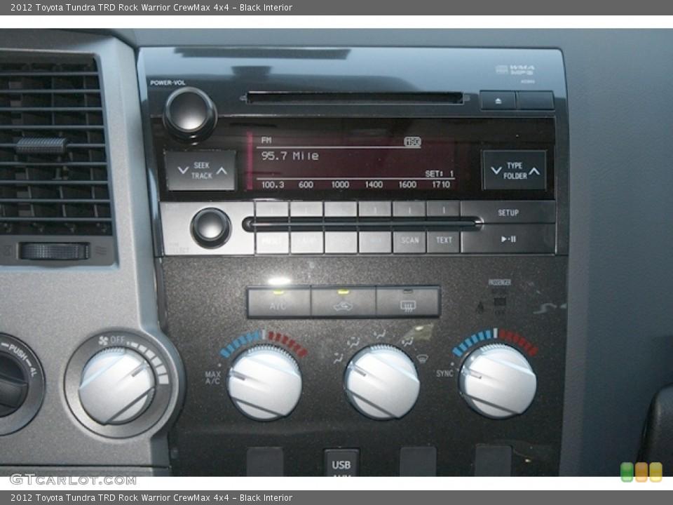 Black Interior Controls for the 2012 Toyota Tundra TRD Rock Warrior CrewMax 4x4 #67251522