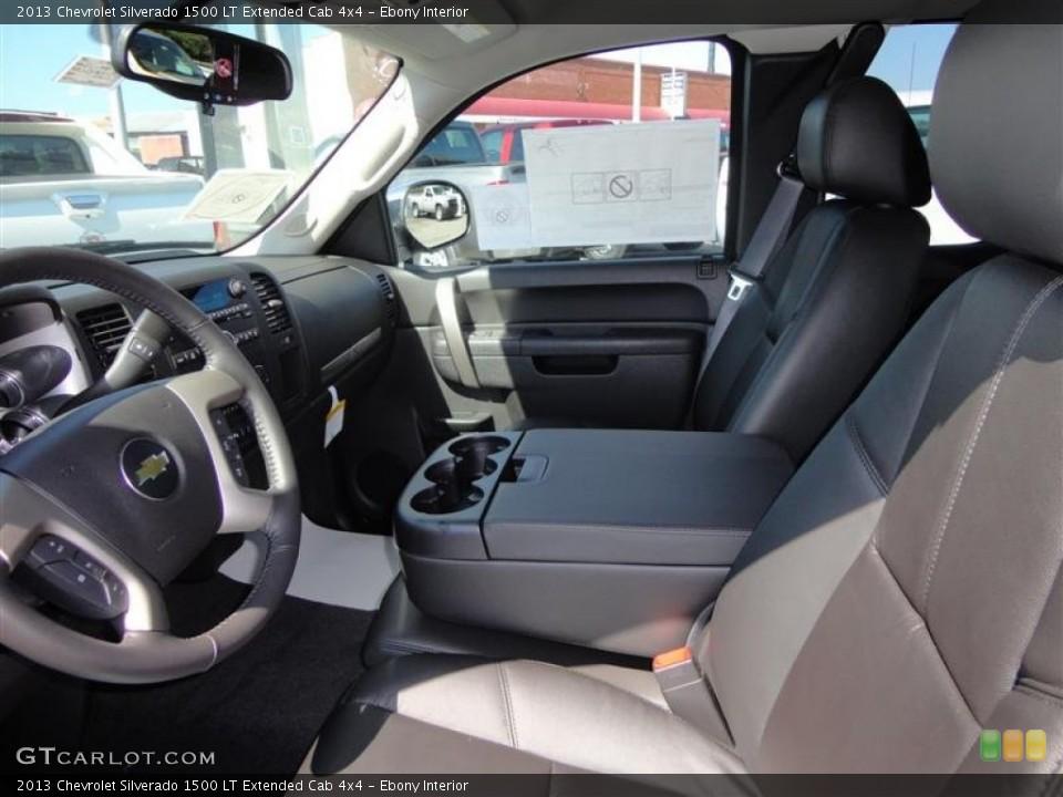 Ebony Interior Photo for the 2013 Chevrolet Silverado 1500 LT Extended Cab 4x4 #67289595