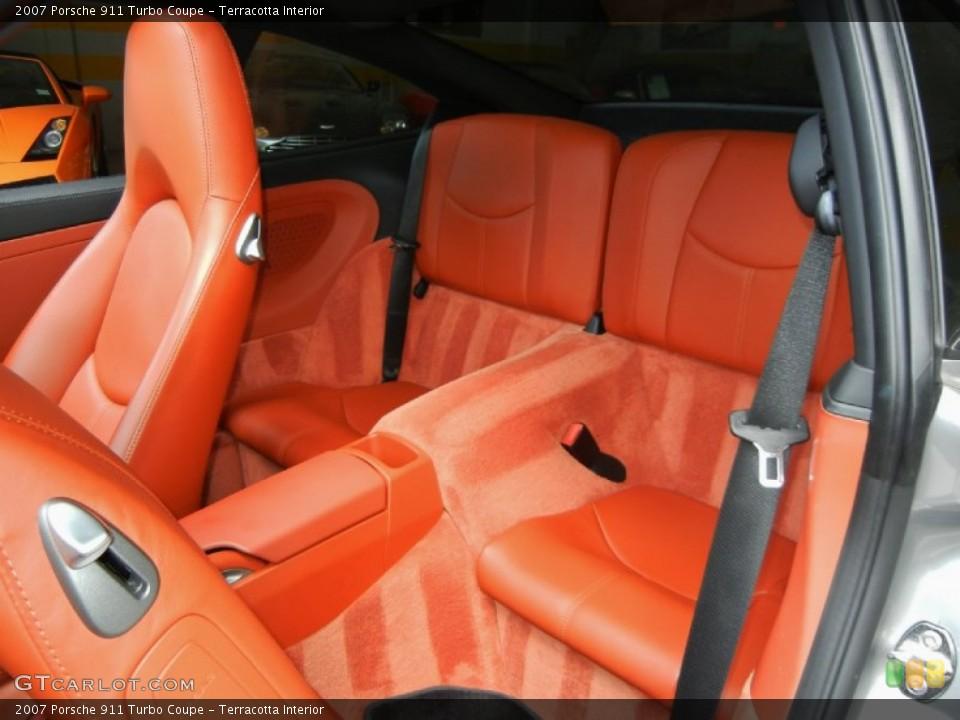 Terracotta Interior Rear Seat for the 2007 Porsche 911 Turbo Coupe #67352852