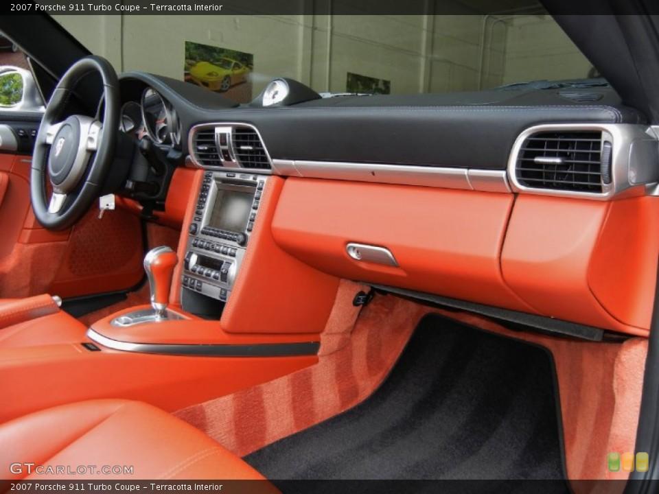 Terracotta Interior Dashboard for the 2007 Porsche 911 Turbo Coupe #67352914