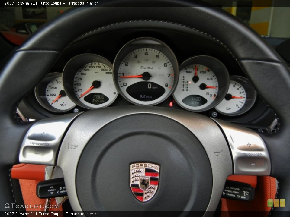 Terracotta Interior Gauges for the 2007 Porsche 911 Turbo Coupe #67352933