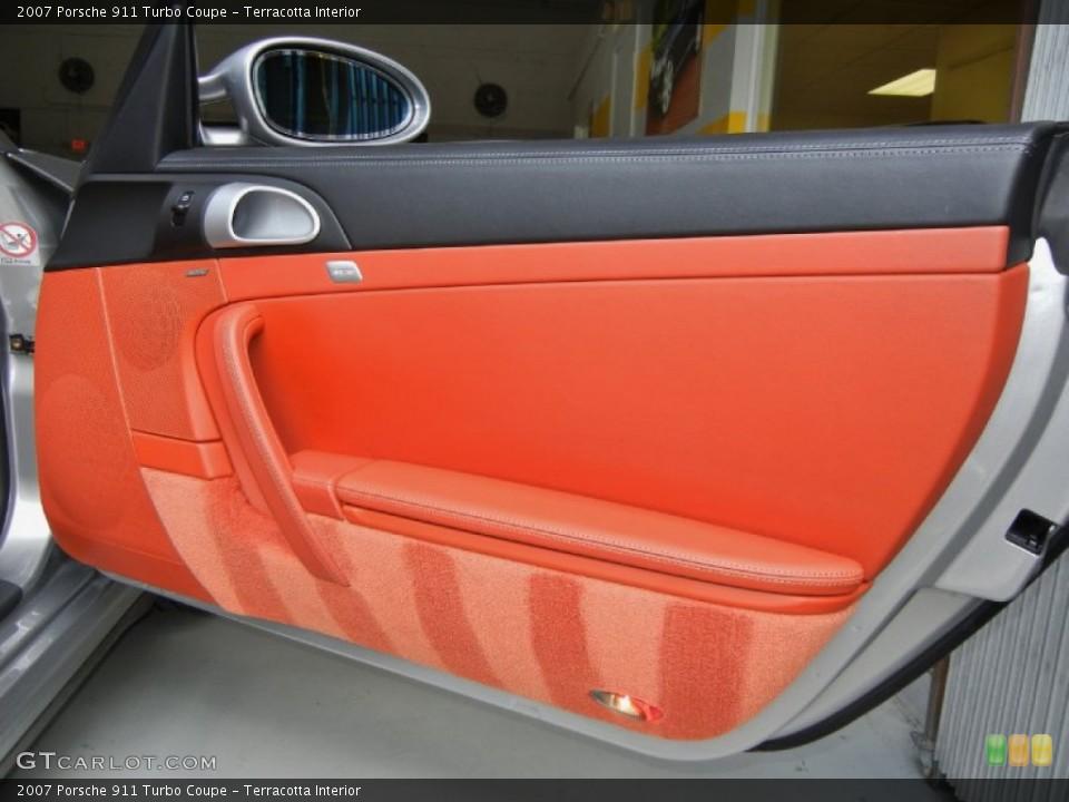 Terracotta Interior Door Panel for the 2007 Porsche 911 Turbo Coupe #67353020