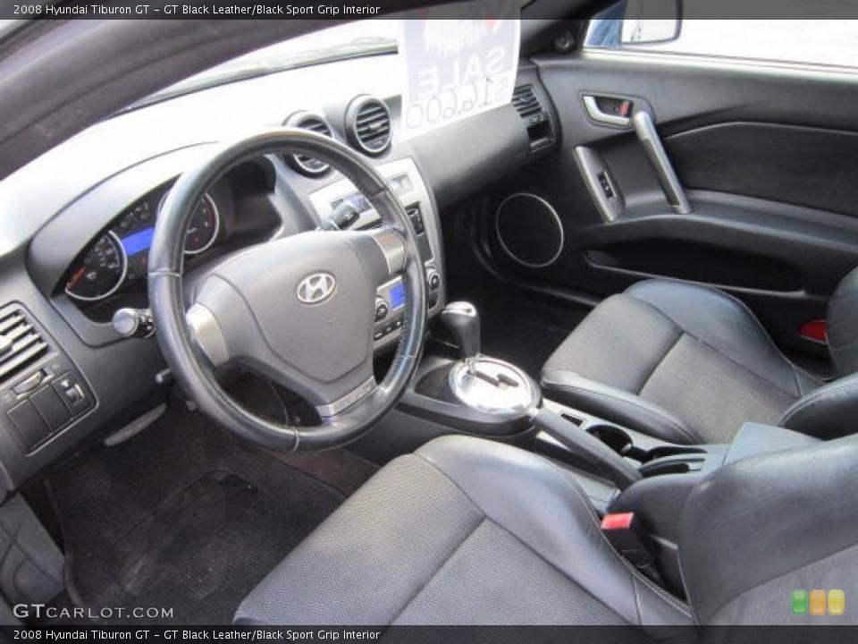 GT Black Leather/Black Sport Grip 2008 Hyundai Tiburon Interiors
