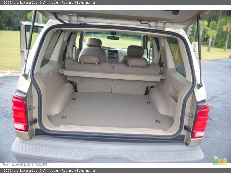 Medium Parchment Beige Interior Trunk for the 2003 Ford Explorer Sport XLT #67640883