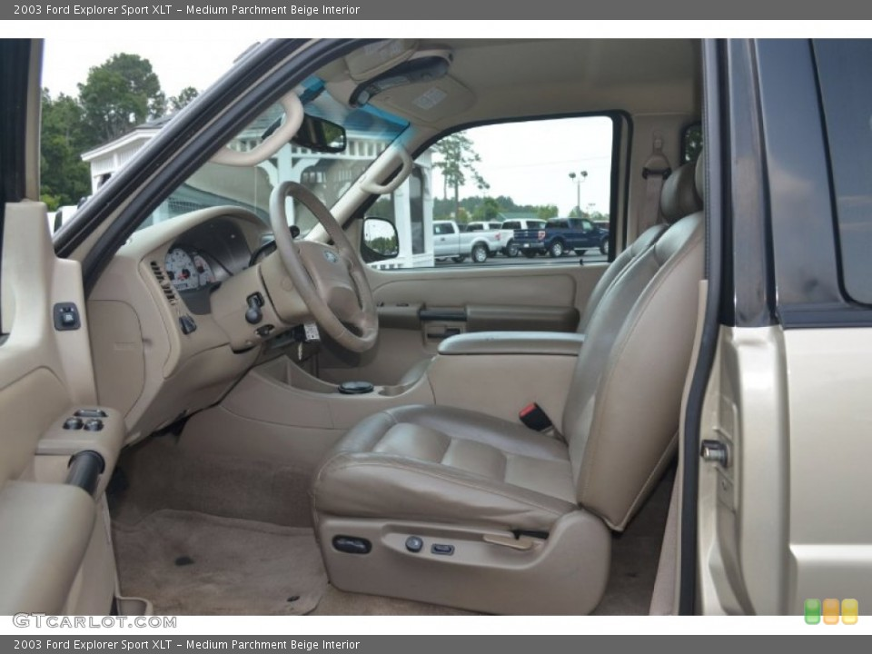 Medium Parchment Beige Interior Photo for the 2003 Ford Explorer Sport XLT #67640889