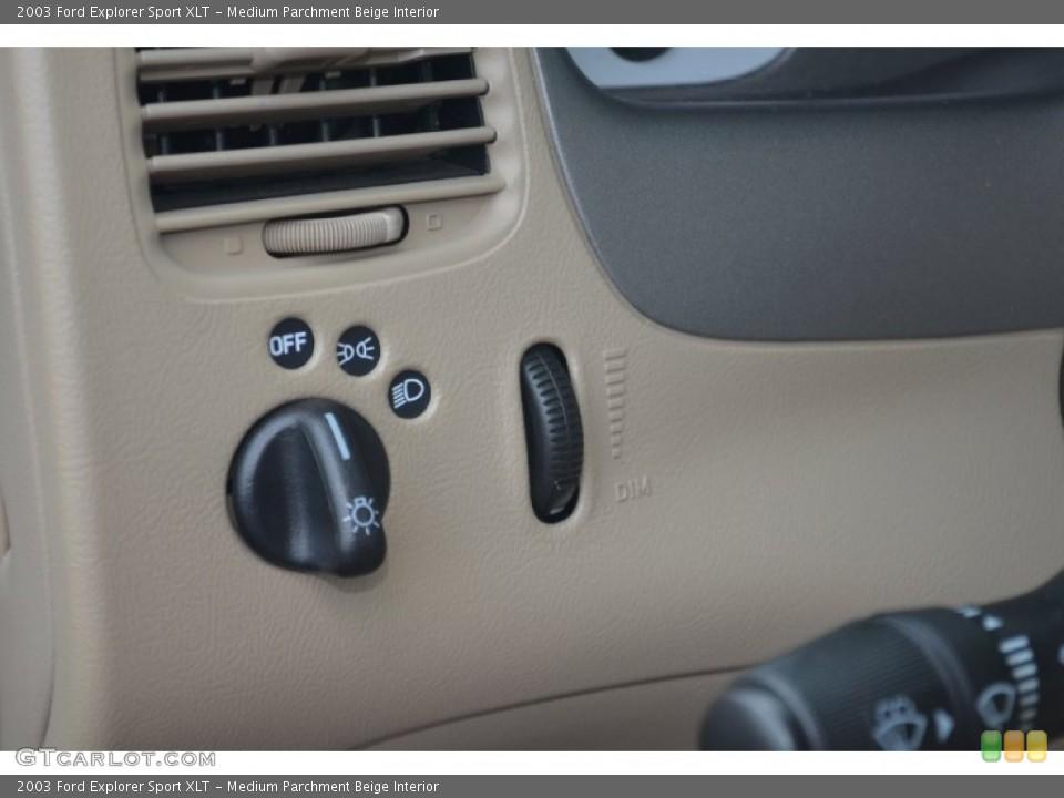 Medium Parchment Beige Interior Controls for the 2003 Ford Explorer Sport XLT #67640892