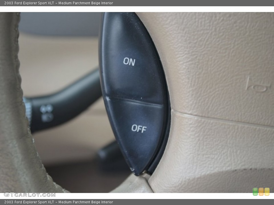 Medium Parchment Beige Interior Controls for the 2003 Ford Explorer Sport XLT #67640895