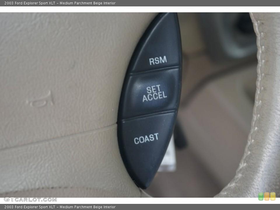 Medium Parchment Beige Interior Controls for the 2003 Ford Explorer Sport XLT #67640898