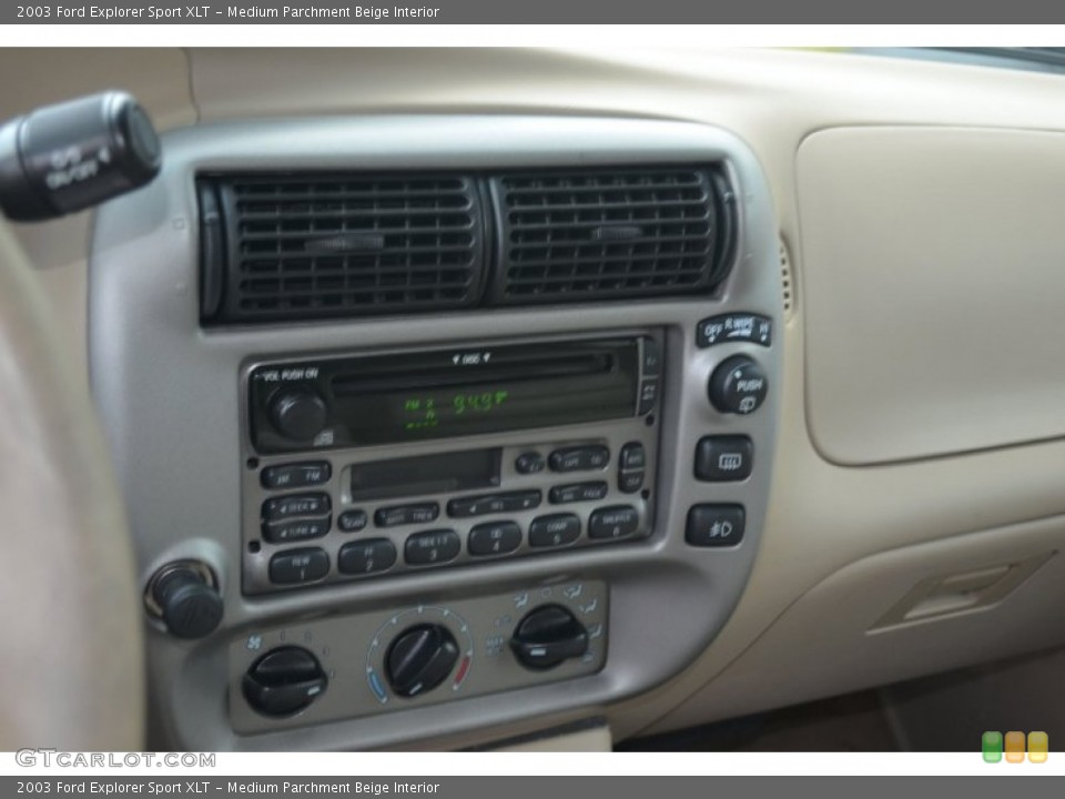 Medium Parchment Beige Interior Controls for the 2003 Ford Explorer Sport XLT #67640904