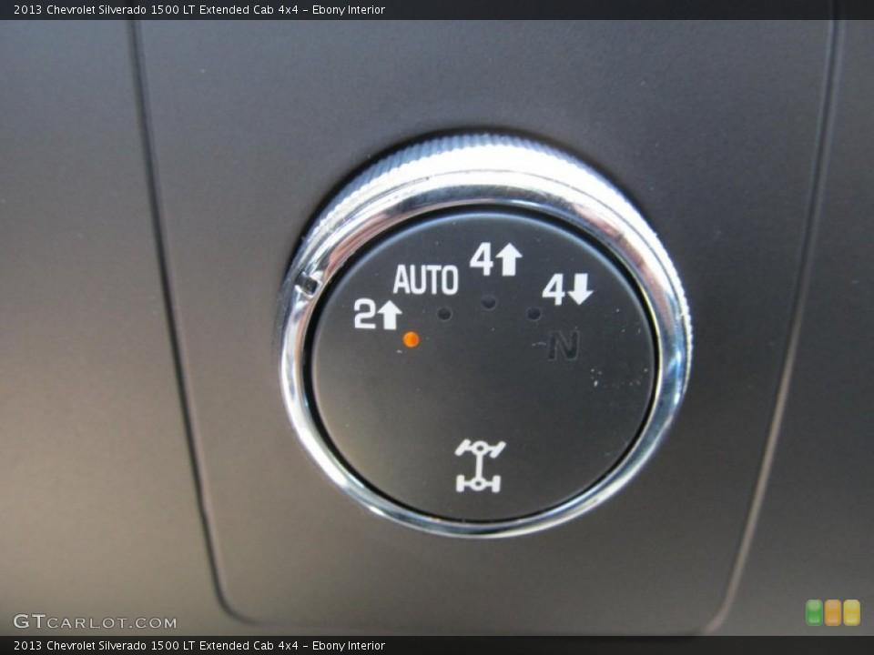 Ebony Interior Controls for the 2013 Chevrolet Silverado 1500 LT Extended Cab 4x4 #67646350