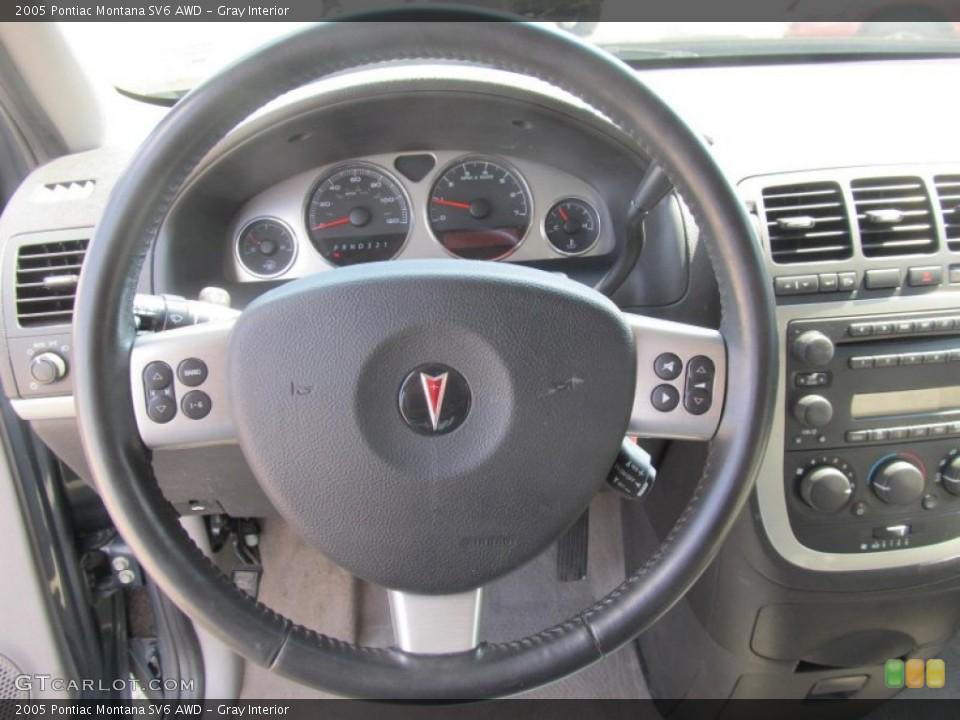 Gray Interior Steering Wheel for the 2005 Pontiac Montana SV6 AWD #67701664