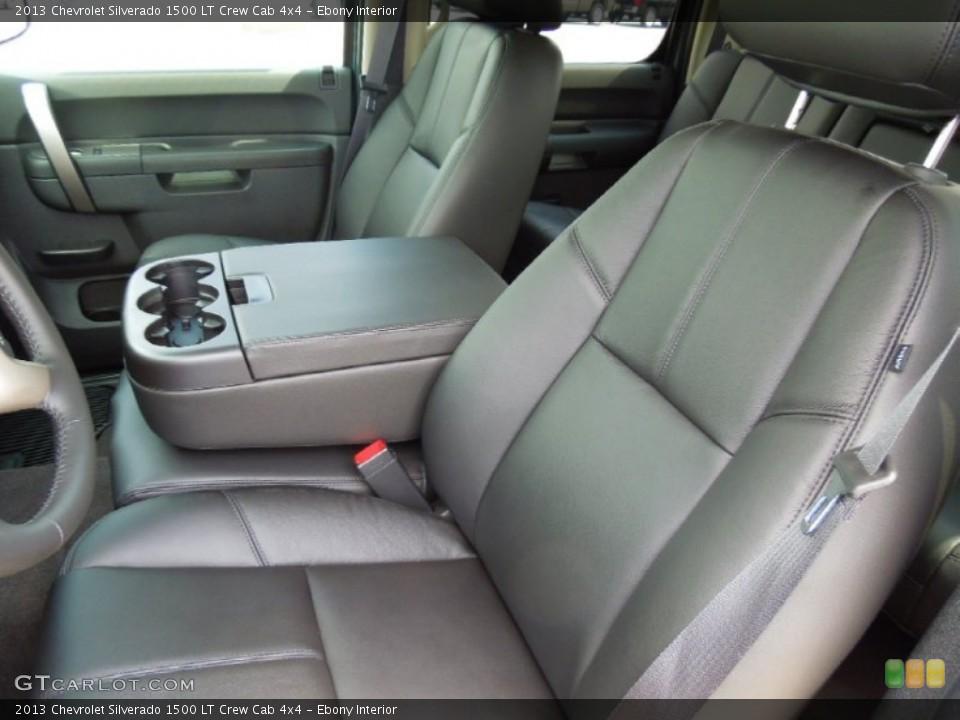 Ebony Interior Photo for the 2013 Chevrolet Silverado 1500 LT Crew Cab 4x4 #67836122