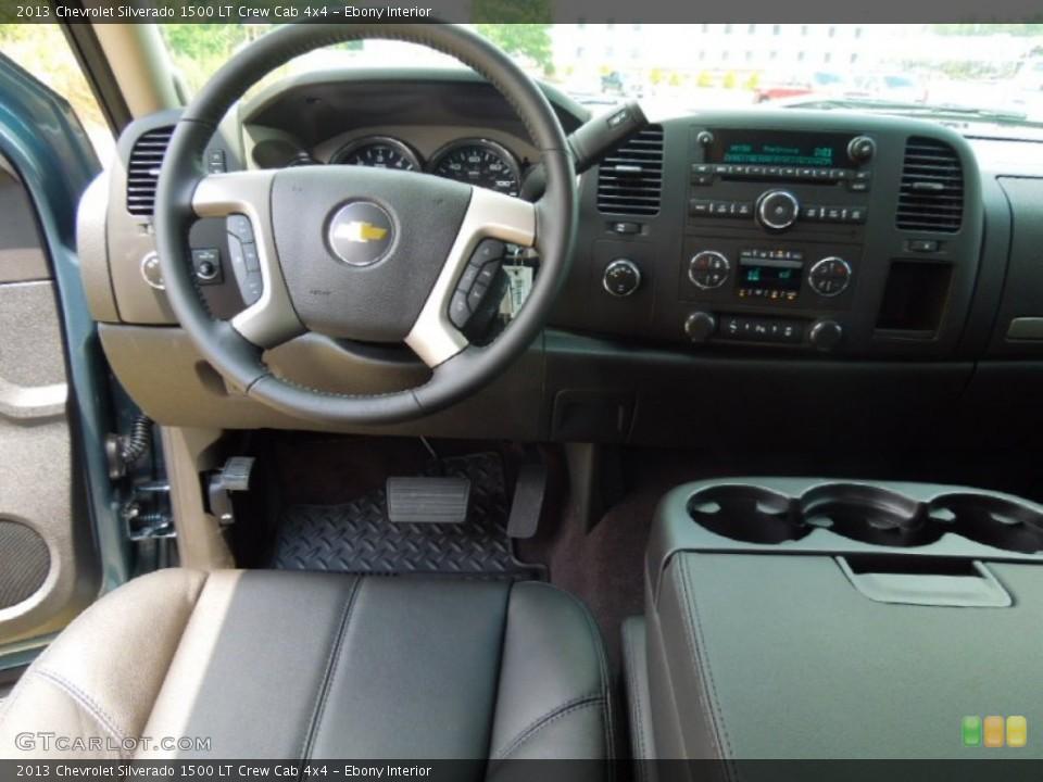 Ebony Interior Dashboard for the 2013 Chevrolet Silverado 1500 LT Crew Cab 4x4 #67836161