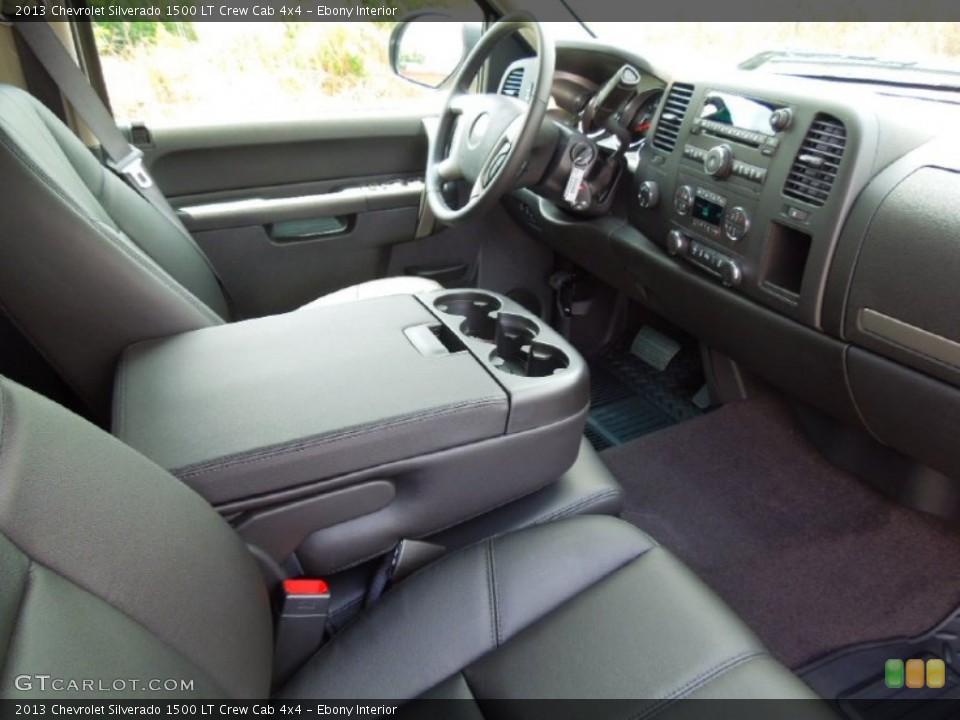 Ebony Interior Photo for the 2013 Chevrolet Silverado 1500 LT Crew Cab 4x4 #67836192