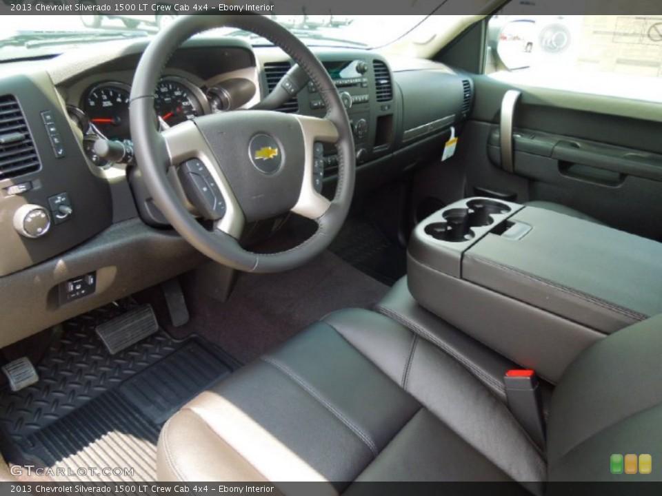 Ebony Interior Prime Interior for the 2013 Chevrolet Silverado 1500 LT Crew Cab 4x4 #67836225