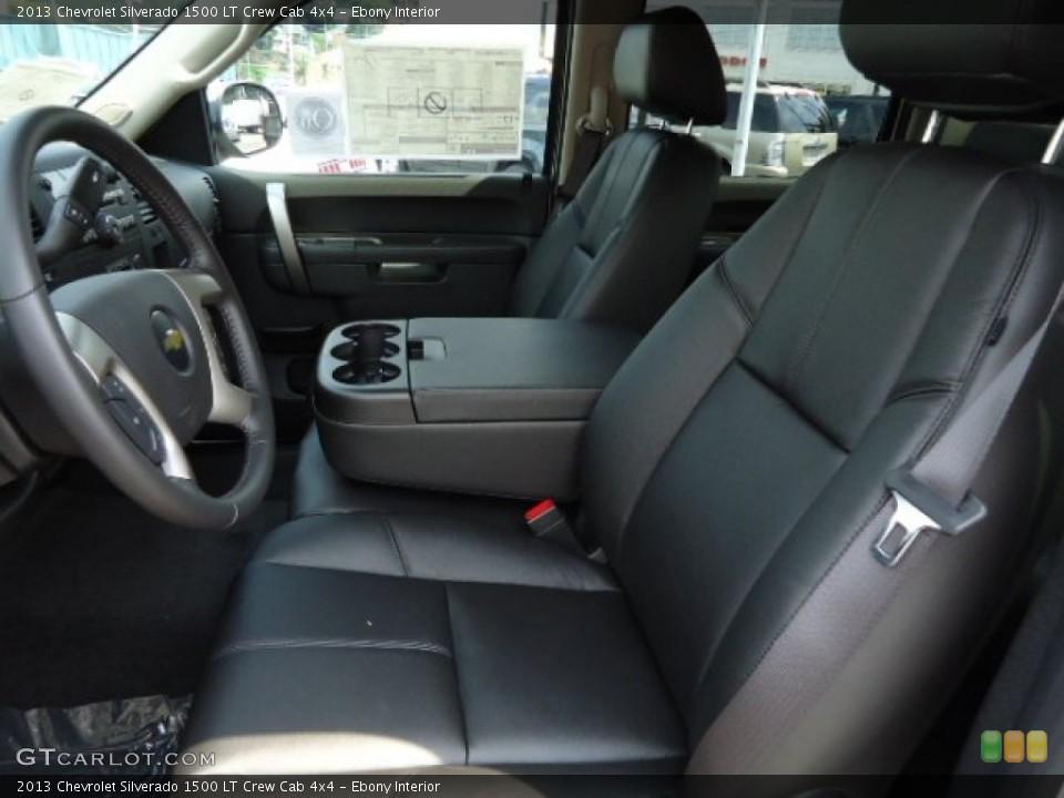 Ebony Interior Photo for the 2013 Chevrolet Silverado 1500 LT Crew Cab 4x4 #67907219