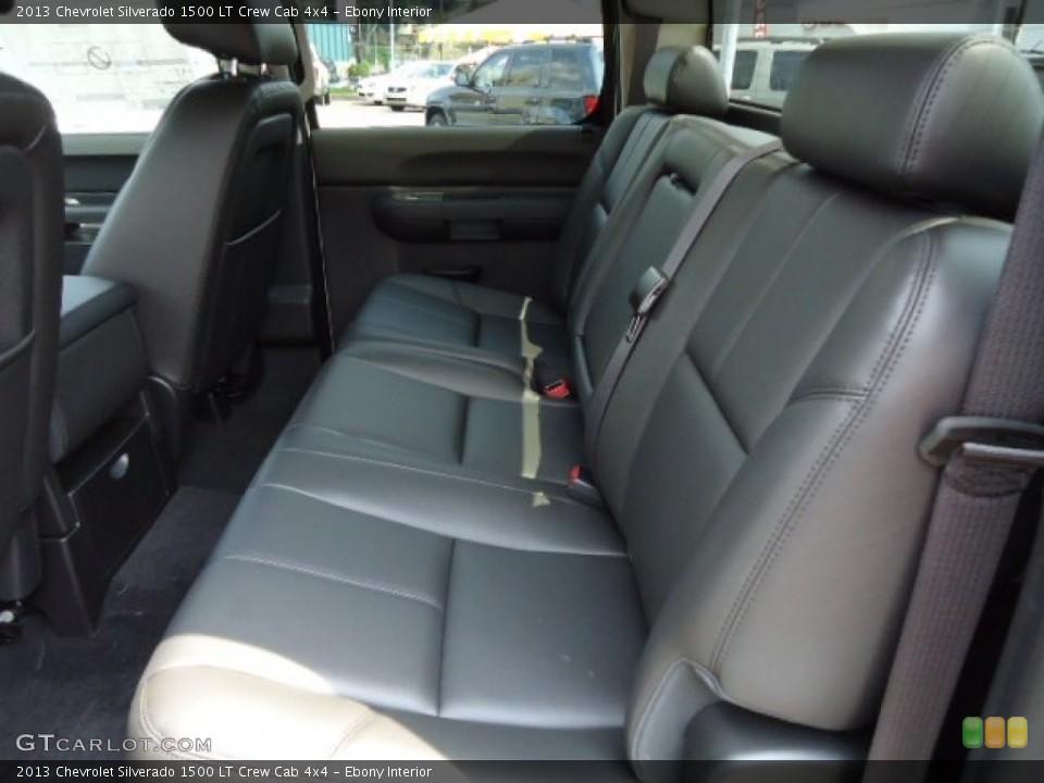Ebony Interior Rear Seat for the 2013 Chevrolet Silverado 1500 LT Crew Cab 4x4 #67907225