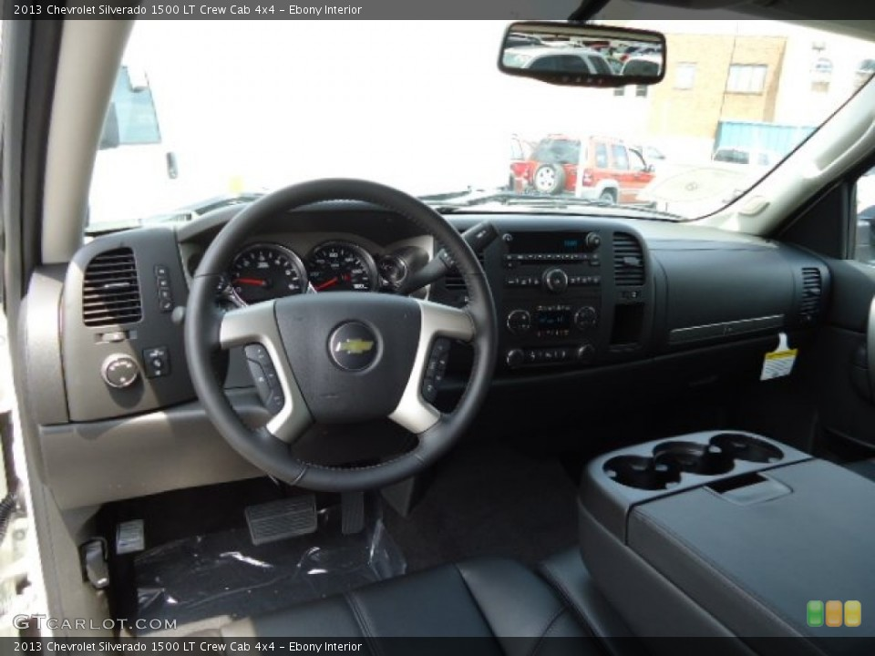 Ebony Interior Prime Interior for the 2013 Chevrolet Silverado 1500 LT Crew Cab 4x4 #67907234