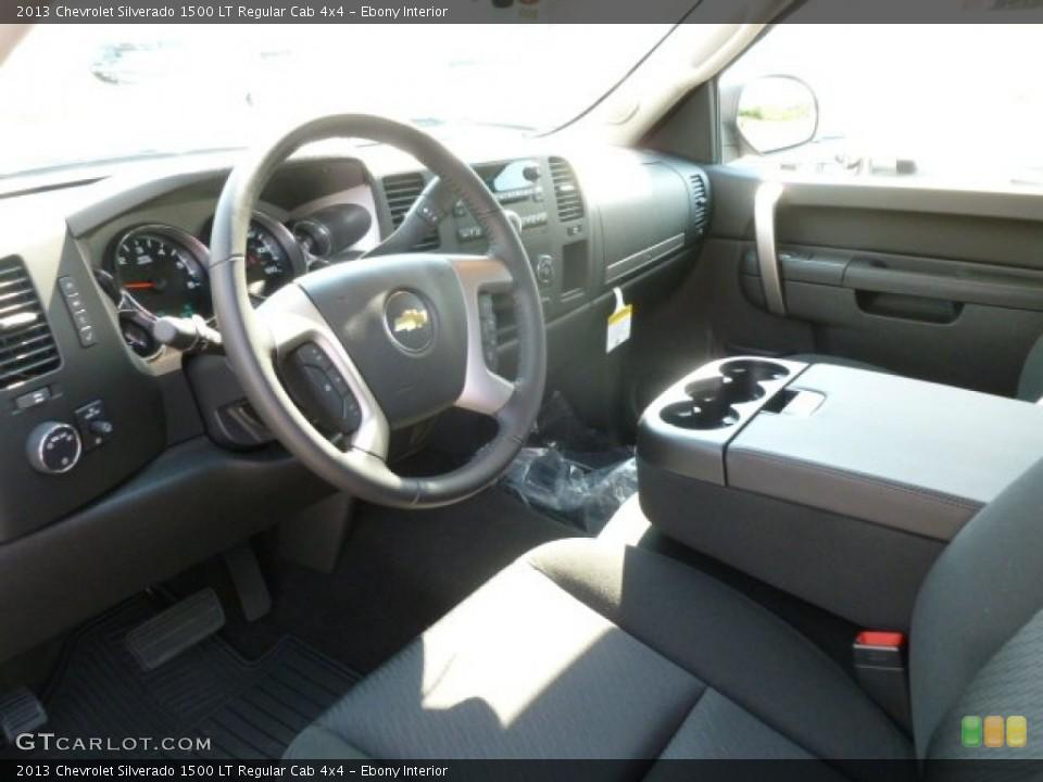 Ebony Interior Photo for the 2013 Chevrolet Silverado 1500 LT Regular Cab 4x4 #67908848