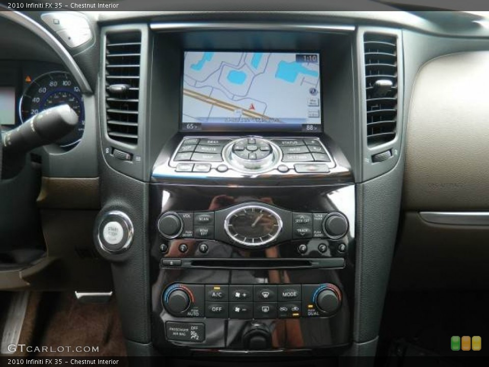 Chestnut Interior Navigation for the 2010 Infiniti FX 35 #67925404