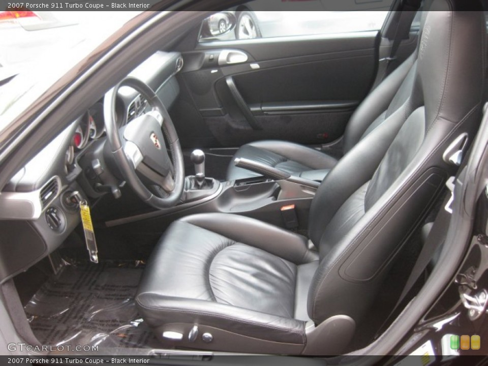 Black Interior Front Seat for the 2007 Porsche 911 Turbo Coupe #68063123