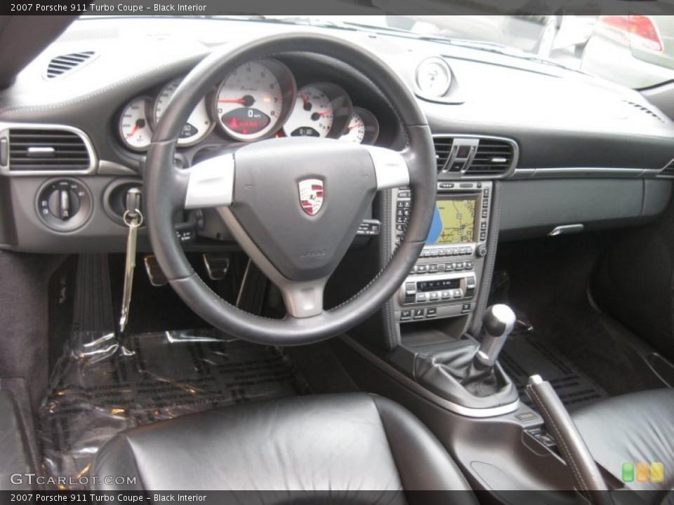 Black Interior Dashboard for the 2007 Porsche 911 Turbo Coupe #68063132