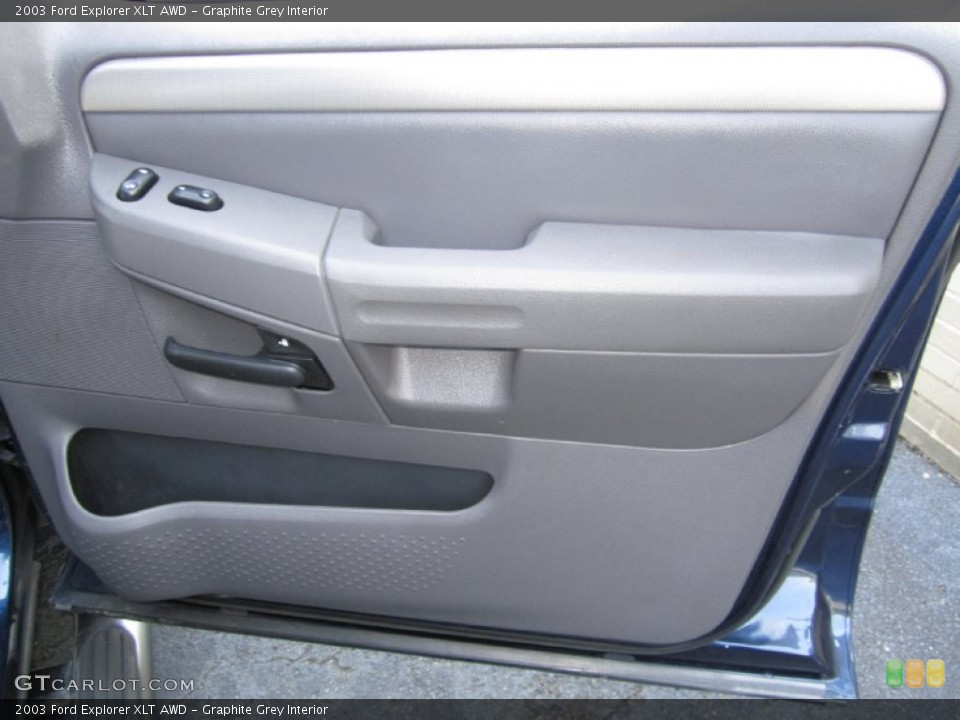 Graphite Grey Interior Door Panel for the 2003 Ford Explorer XLT AWD #68117240