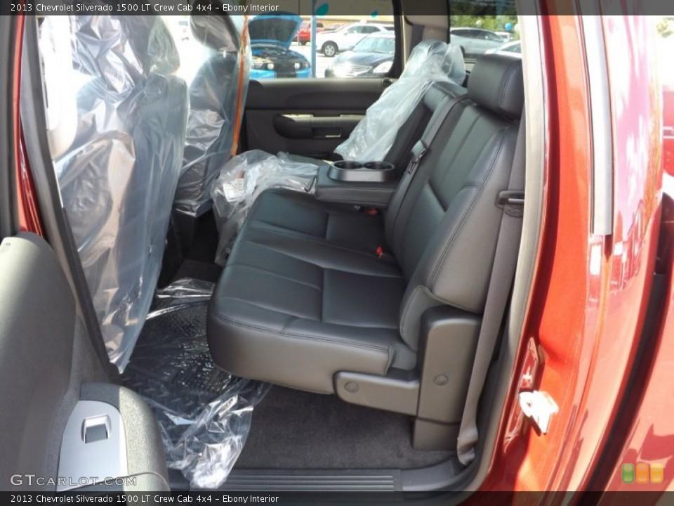 Ebony Interior Rear Seat for the 2013 Chevrolet Silverado 1500 LT Crew Cab 4x4 #68144843