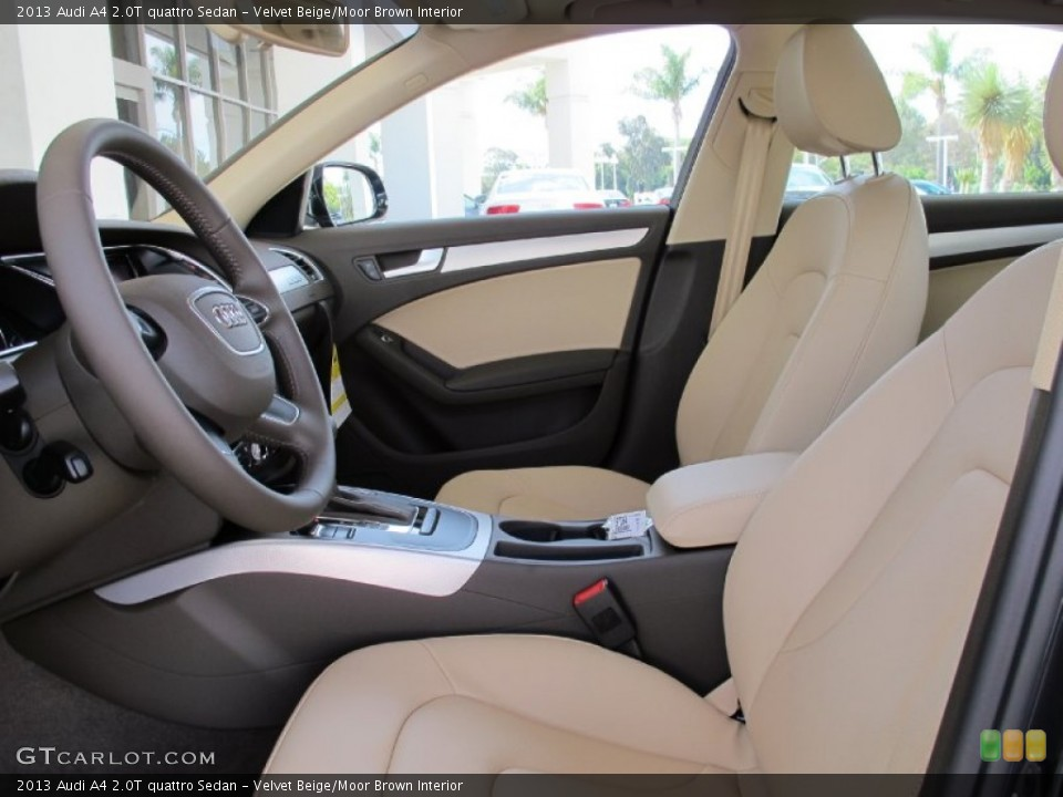 Prime Interior photos of the 2013 Audi A4 in Velvet Beige/Moor Brown