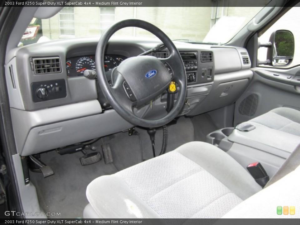 Medium Flint Grey Interior Prime Interior for the 2003 Ford F250 Super Duty XLT SuperCab 4x4 #68427041