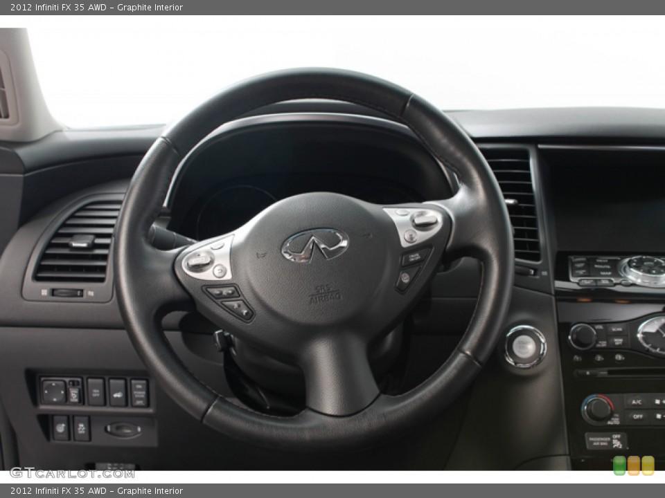 Graphite Interior Steering Wheel for the 2012 Infiniti FX 35 AWD #68434523