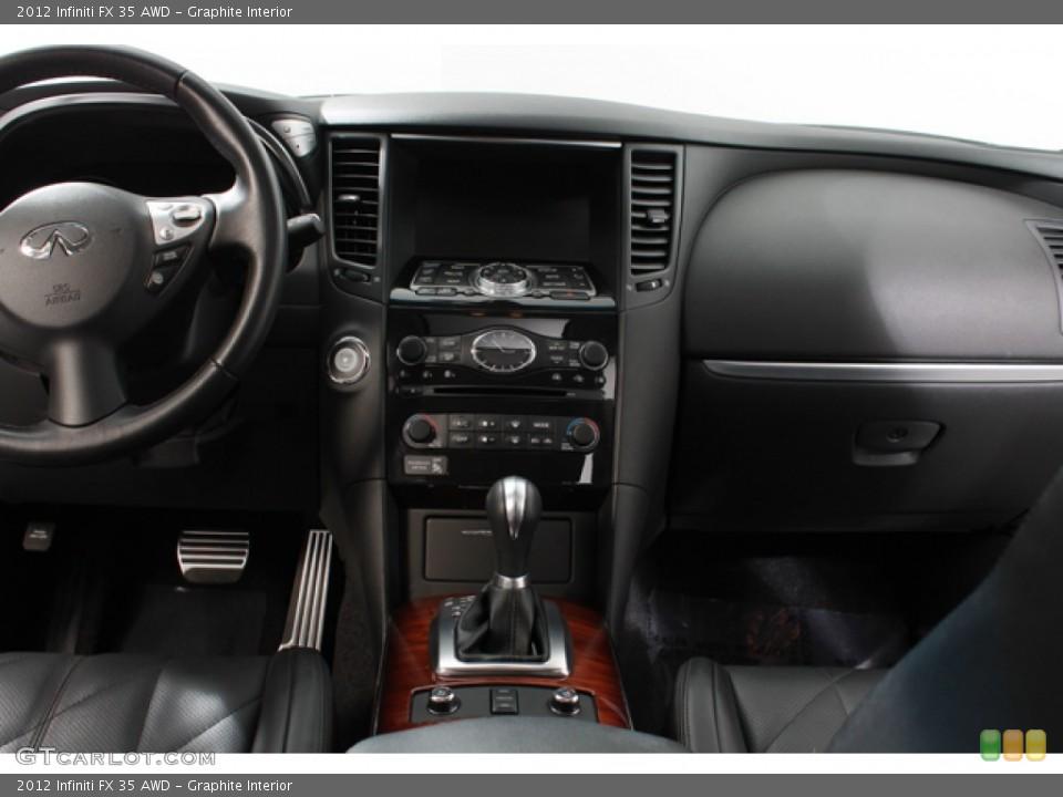 Graphite Interior Controls for the 2012 Infiniti FX 35 AWD #68434541