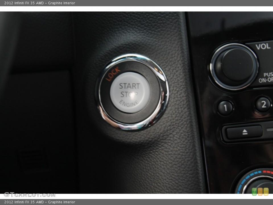 Graphite Interior Controls for the 2012 Infiniti FX 35 AWD #68434643