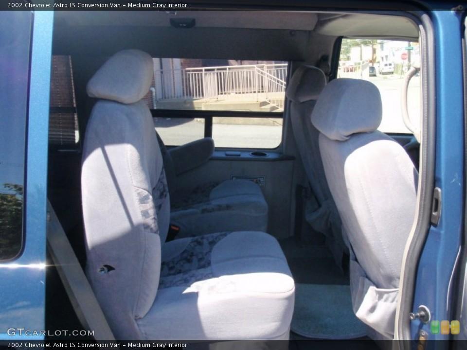 Medium Gray Interior Rear Seat for the 2002 Chevrolet Astro LS Conversion Van #68507095