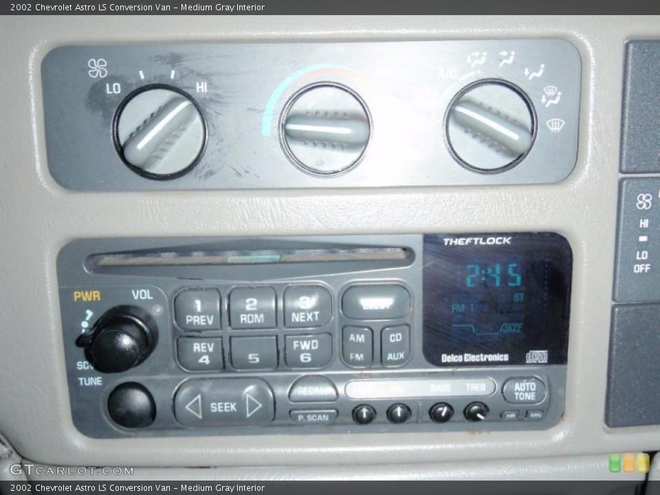 Medium Gray Interior Controls for the 2002 Chevrolet Astro LS Conversion Van #68507117