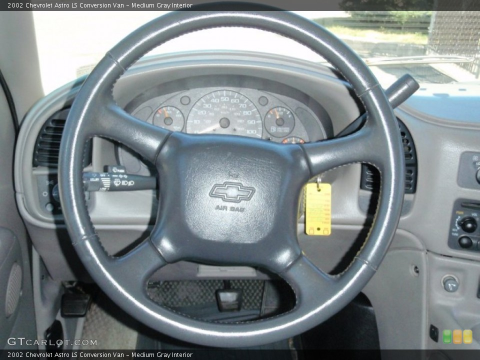 Medium Gray Interior Steering Wheel for the 2002 Chevrolet Astro LS Conversion Van #68507353