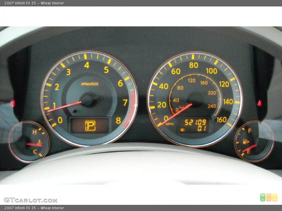 Wheat Interior Gauges for the 2007 Infiniti FX 35 #68659456