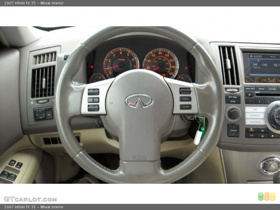 Wheat Interior Steering Wheel for the 2007 Infiniti FX 35 #68659459