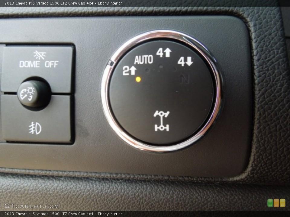 Ebony Interior Controls for the 2013 Chevrolet Silverado 1500 LTZ Crew Cab 4x4 #68701795