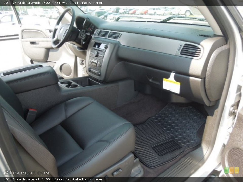 Ebony Interior Photo for the 2013 Chevrolet Silverado 1500 LTZ Crew Cab 4x4 #68701837