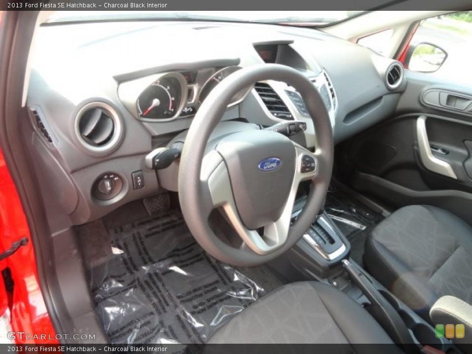 Charcoal Black 2013 Ford Fiesta Interiors
