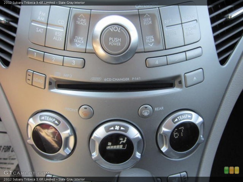 Slate Gray Interior Controls for the 2012 Subaru Tribeca 3.6R Limited #68949432