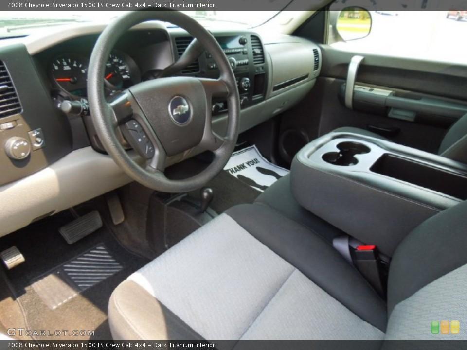 Dark Titanium 2008 Chevrolet Silverado 1500 Interiors
