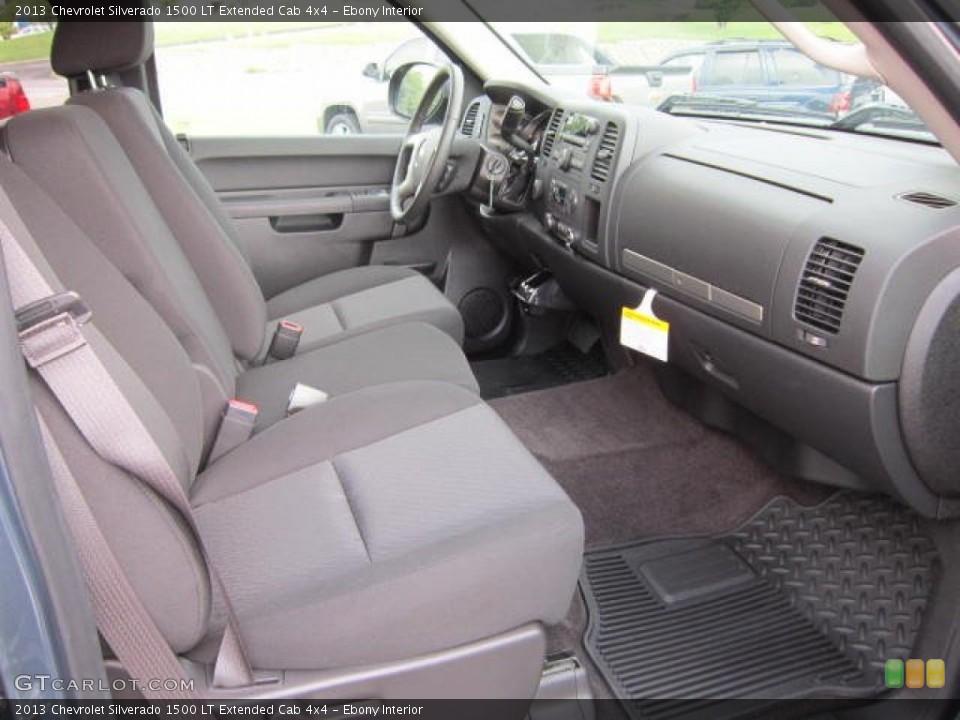 Ebony Interior Photo for the 2013 Chevrolet Silverado 1500 LT Extended Cab 4x4 #69043496